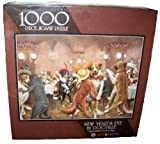 New Year's Eve in Dogville 1000 Piece Jigsaw Puzzle by C.M. Coolidge