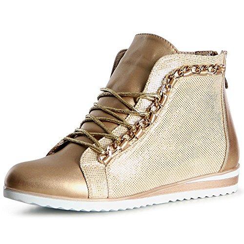 Or Topschuhe24 Femmes Baskets Sport De Chaussures 7Of4COxqn