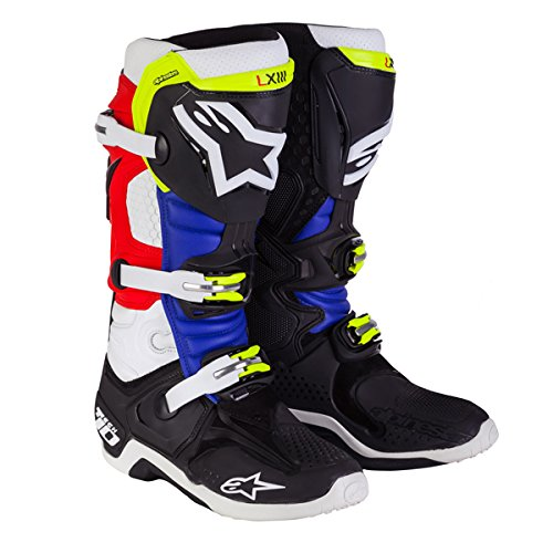 Alpinestars Tech 10 Barcia Vented Men's Off-Road Motorcycle Boots - Black/Red/Blue / 12