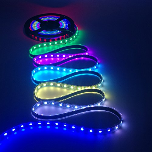 IKSACE 16.4ft WS2811 300LEDs DC 12V Addressable Programmable Dream Color LED Digital Strip Pixel Strings 5050 RGB Flexible Colorful Rope LED Strip (Pack no Remote Controller) by IKSACE (Image #6)