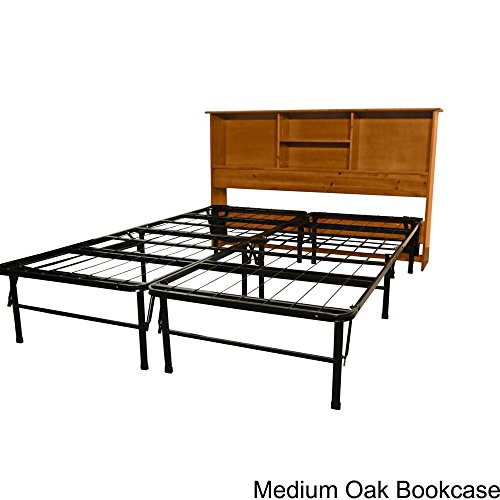 Durabed Frame (EpicFurnishings Durabed King Bed Frame with All Wood Bookcase Headboard Oak Oak Finish)
