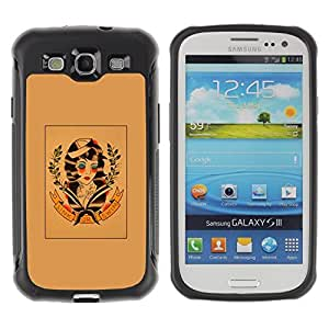 LASTONE PHONE CASE / Suave Silicona Caso Carcasa de Caucho Funda para Samsung Galaxy S3 I9300 / hippie freedom 60's retro wreath art