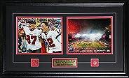 Tom Brady & Rob Gronkowski Tampa Bay Buccaneers Superbowl LV 2 Photo NFL Football Collector F
