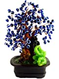 Blue Evil Eye Money Tree Bonsai ( with a Betterdecor Logo Bag)