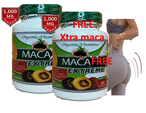 Maca Capsules Original Pill Shape Buttocks Bigger Butt Booty Shaper Super MACAXL Get a Bigger Booty Plus Free 60 Capsules MACA Extreme 1000 MGS (Best Maca Root For Bigger Booty)