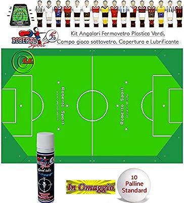 Fútbol Futbolín Roberto Sport Kit Serie tope angular cristal de ...