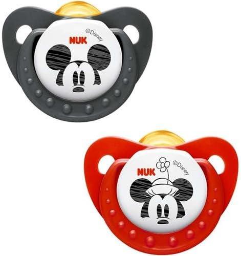 Nuk 10725012 Disney Topolino 0-6 Mesi Succhietto Trendline in Lattice: Amazon.es: Bebé