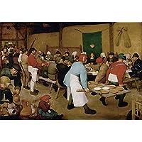 O Casamento Camponês Celebração Camponesa Música Longa e Farta Mesa de Banquete 1566 Pintura de Pieter Bruegel o Velho na Tela em Vários Tamanhos
