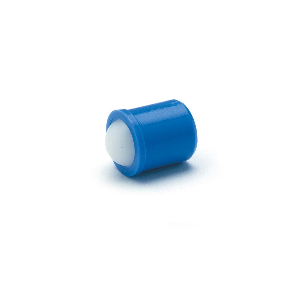 Piezas de presi/ón el/ásticas de Ganter Normelemente para insertar a presi/ón GN 614 GN 614-6-KD acero inoxidable y pl/ástico Azul