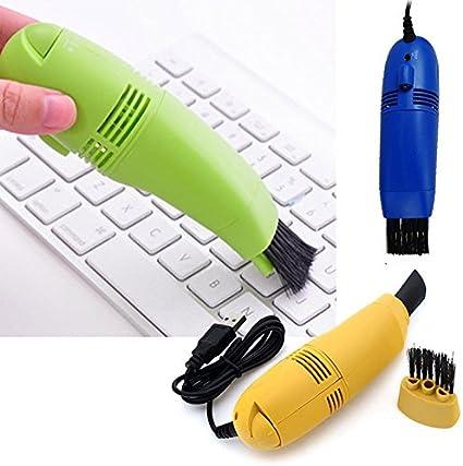 Mini aspiradora, USB teclado Hoover – Cepillo limpiador de teclado – Herramientas de limpieza al vacío – para computadora portátil PC teclado, color random color free size: Amazon.es: Oficina y papelería
