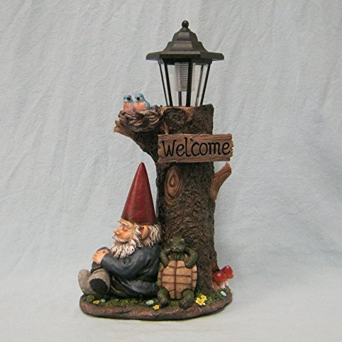 Nappy Station Lantern Light | Gnome and Turtle Tree Lantern for Patio by DWK