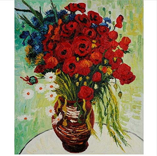 CZYYOU DIY Digital Malen Nach Zahlen Chrysantheme Ölgemälde Wandgemälde Kits Färbung Wandkunst Bild Geschenk - Mit Rahmen - 40x50cm B07PRXVJXF   Kostengünstig