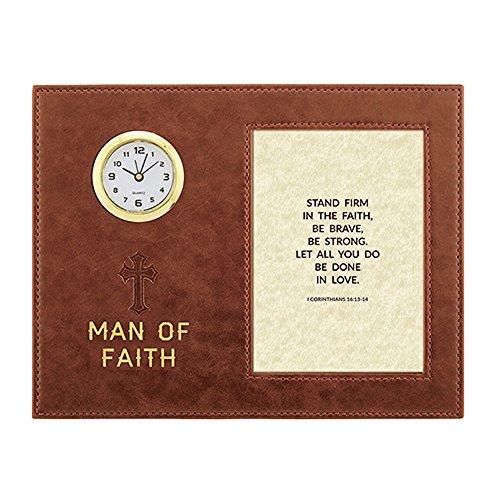 AT001 Man Of God - Ephesians 6:10-11 Framed Table Clock, 9'' X 7''. by AT001