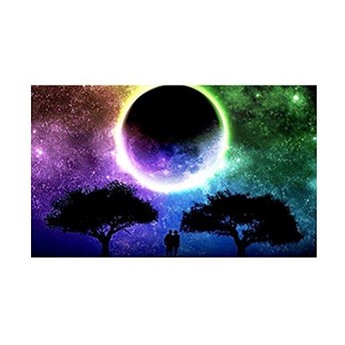 Healifty Kit Punto de Cruz Diamante 5d Resina Bricolaje Bordado Pintura Paisaje Noche Estrellada Luna de Colores