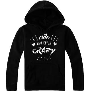 IDcommerce Cute But Effin Crazy Cute Hearts Design Womens T-Shirt XX-Large Gray