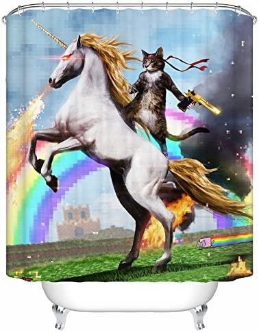 Xboon Chat Mignon Déquitation Cheval Pixel Rainbow Fire