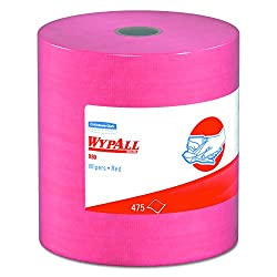 Wypall 41055 X80 Wipers, Hydroknit, Jumbo Roll, 12 12 X 13 25, Red, 475 Wipers Per Roll