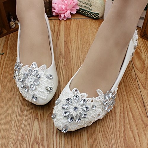 shoes Customize dress and heel amp; and wedding 3CM Si height and Rhinestones bride banquet handmade summer lace bridesmaid Women's Spring party Flowers qUtwTp