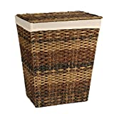 Seville Classics Handwoven Lidded Laundry Hamper /w Canvas Liner,...