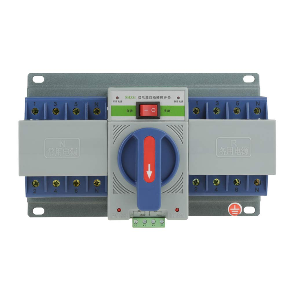 220V 63A 4P Automatic Transfer Switch Mini Dual Electronic Power Circuit Breaker