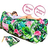 Xtralix Inflatable Lounger Air Sofa Hammock Portable Lounge-Air Sofa Bag Inflatable Lounger Beach Bed-Lazy Lounger Inflatable Couch-Portable Sofa Inflatable Sleeping Bag Beach Hangout Lazy Air Bed