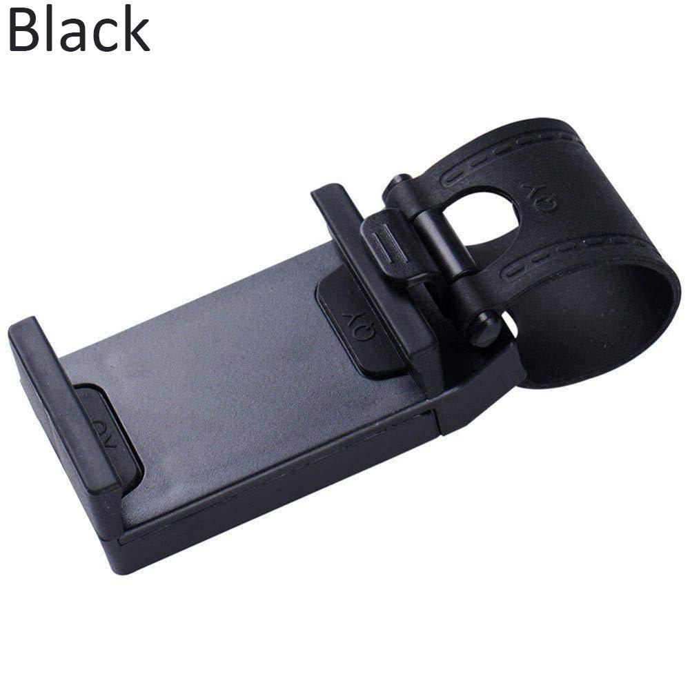Mounts & Holders Mobile Phone Steering Wheel Mount Bracket Holder Clip GPS Support Bracket Stand (Black)