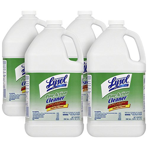 (Professional Lysol Pine Action Cleaner, Concentrate, 4gal (4X1gal))