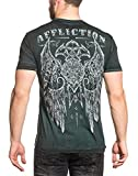 Affliction Mens Royale Impact Tee Shirt Teal Reactive