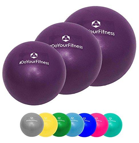 [3Stück] Pilates Bälle »Balle« jeweils in 18cm / 23cm / 28cm Durchmesser : Der ideale Gymnastikball für Beckenübungen, Stärkung der Bauchmuskulatur und partielle Massage. Erhältlich in aktuellen Trendfarben : violett