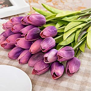 Adarl Artificial Flower Fake Flower Silk Tulip Flower Bouquet for Home Office Decor Party Festival Wedding Decoration 83