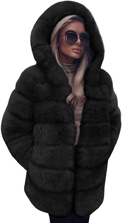 Men/'s Thicken Jacket Faux Mink Fur Jacket Winter Warm Slim Fit Overcoat Hooded
