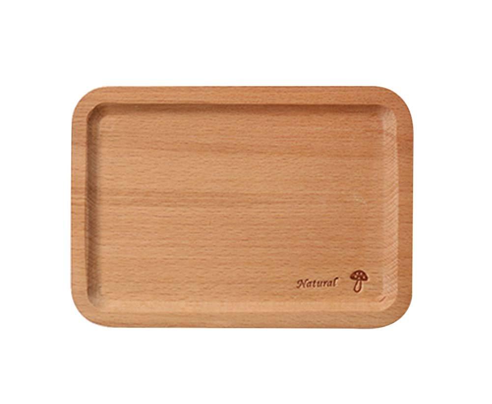Safe Lovely Environmental Wooden Tray/Baby Tableware/Utensils For Baby(Mushroom)
