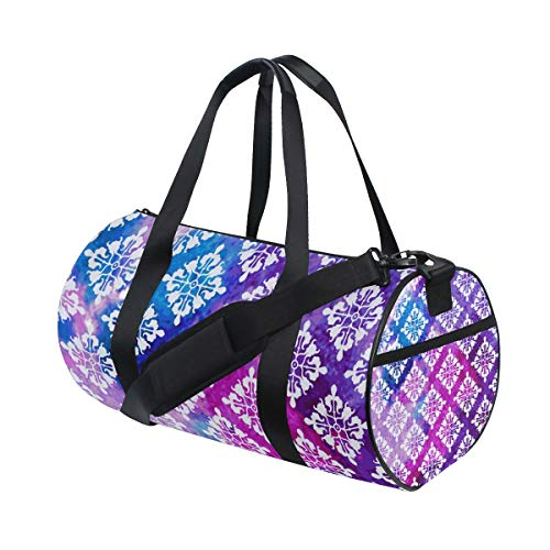 YCHY Watercolor Victorian Pattern Water Resistant Gym Sports with independent zipper Travel Duffel Bag for Women and Men