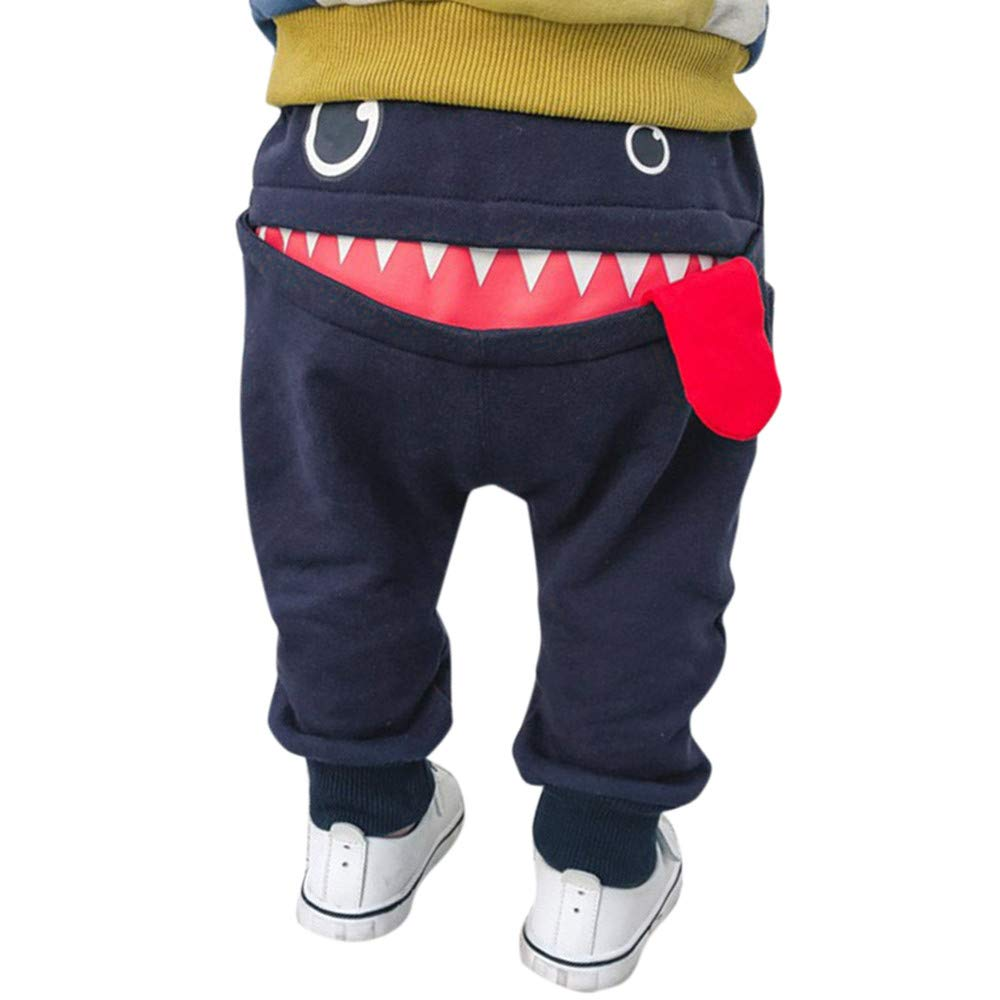 Boys Girls Unisex Trousers, Weant Newborn Baby Clothes Outfits Cute Cartoon Shark Long Pants for Kids Toddler Infant Pants Trousers Leggings Outfits Gifts