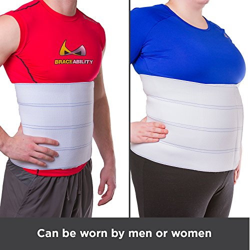 BraceAbility XL Plus Size Bariatric Abdominal Stomach Binder | Obesity Girdle Belt for Big Men & Women with a Large Belly, Post Surgery Tummy & Waist Compression Wrap (Fits 32''-42'' Body Circumference) by BraceAbility (Image #6)