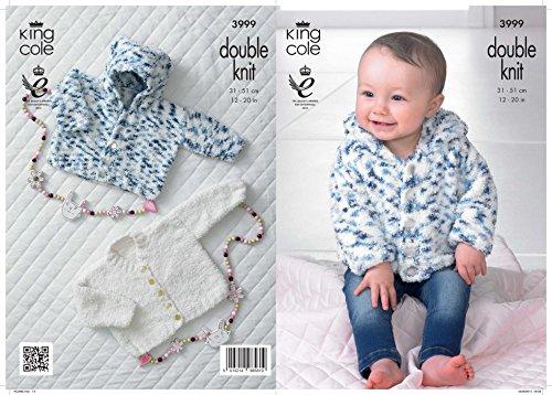 ab7307c18503 King Cole Baby Cardigans Cuddles Knitting Pattern 3999 DK  Amazon.co ...