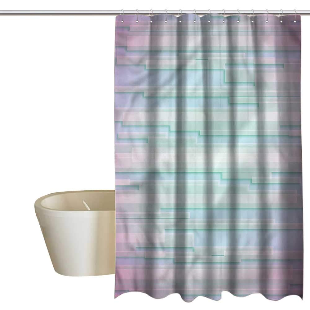 Denruny Shower Curtains Pink and Gray Modern,Minimal Digital,W108 x L72,Shower Curtain for Shower stall