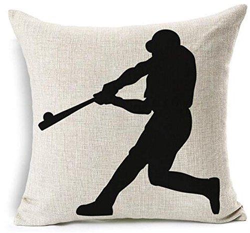 - Baseball Club Community Team Athlete Lovers Gift Cotton Linen Throw Pillow Case Cushion Cover Home Sofa balcony Decorative 18'' X 18 '' (5)