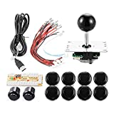 ZYOU Zero Delay Arcade Buttons Game USB Encoder PC Joystick Controller DIY Kit for Mame Jamma & Other PC Fighting Games Black