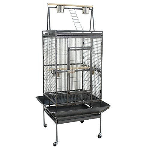 Super Deal 53''/61''/68'' Large Bird Cage Play Top Parrot Finches Cage Macaw Cockatiel Cockatoo Pet House (68 Inch)