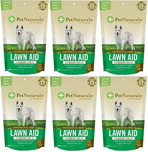- (6 Pack) Pet Naturals Lawn Aid Dog Chews (60 Chews Per Pack / 360 Chews Total)