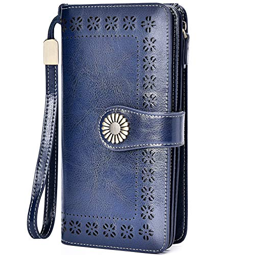 Charmore Womens Wallet RFID Blocking Leather Clutch