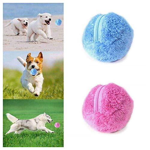 Robotic Laser Ball - Viet's GT Magic Rolling Ball for Dogs- Ball Mini Robotic Cleaner, Microfiber Mop Ball, Automatic Vacuum Cleaner Cute Roll Ball Creative Automatic Rolling Furball Floor Cleaner