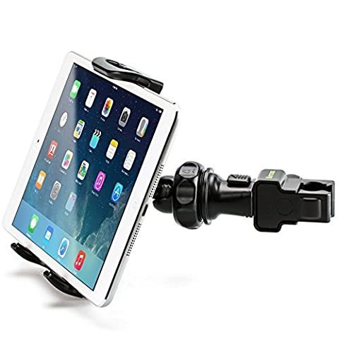 Tablet Tripod Pole Mount, iKross Compact Car Backseat Headrest / Pole / Tripod Mount Holder For 7 to 10.2 inch Tablet - Black for Apple iPad Samsung (Cover De Lg 70)