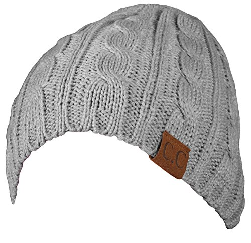 H-6031a-66 - Girls Cable Knit Beanie - Melange Grey (Outfits For Tweens)