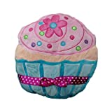 Plush Cupcake Pillow - Blue and Pink