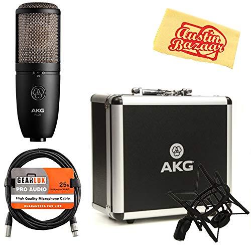 (AKG P420 High-Performance Dual-Capsule True Condenser Microphone Bundle with XLR Cable and Austin Bazaar Polishing Cloth)