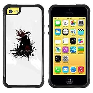 Planetar® ( The Son Of Destruction ) Apple iPhone 5C Hybrid Heavy Duty Shockproof TPU Fundas Cover Cubre Case