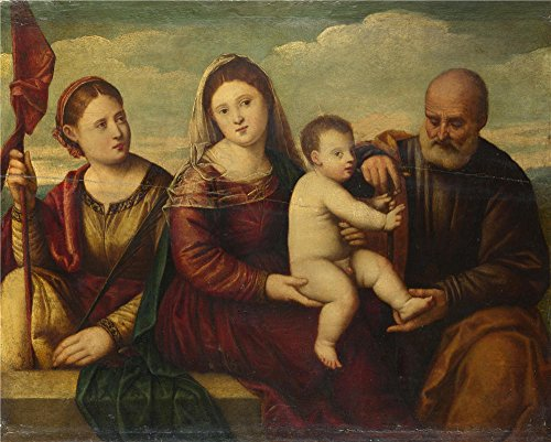 [Perfect Effect Canvas ,the High Resolution Art Decorative Canvas Prints Of Oil Painting 'Bernardino Licinio The Madonna And Child With Saints ', 8 X 10 Inch / 20 X 25 Cm Is Best For Game Room Decor And Home Artwork And Gifts] (Madonna Super Bowl Costume)