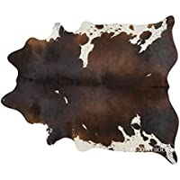 Chocolate Brazilian Cowhide Rug Cow Hide Skin Leather Area Rug: XL